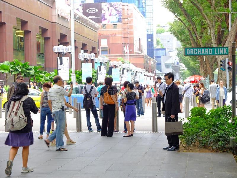 Voetgangers in Singapore royalty-vrije stock foto's
