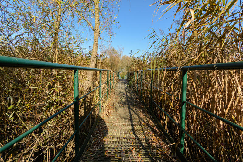 voetgangersbrug stock foto's