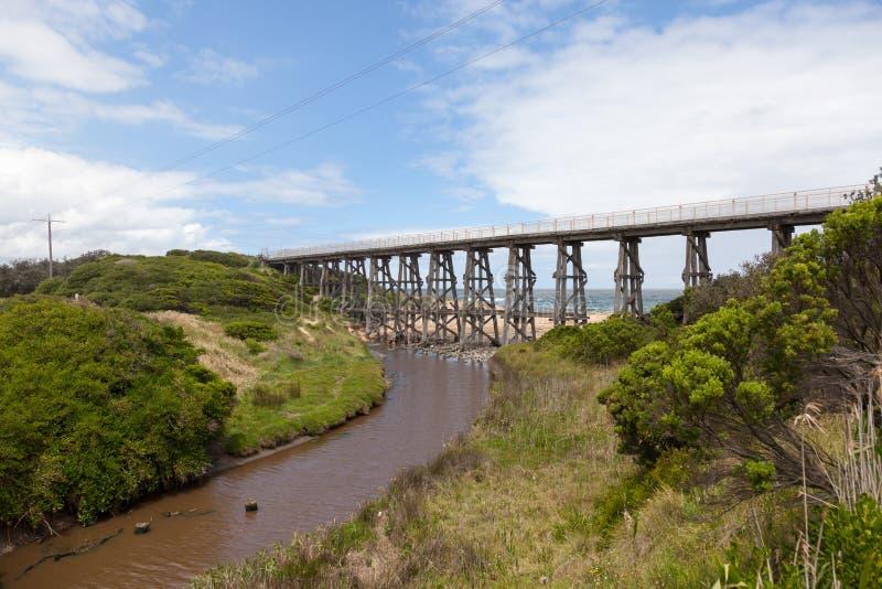 Voetgangersbrug in Kilcunda royalty-vrije stock afbeelding