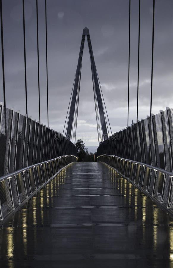 Voetgangersbrug over Weg 85 royalty-vrije stock fotografie