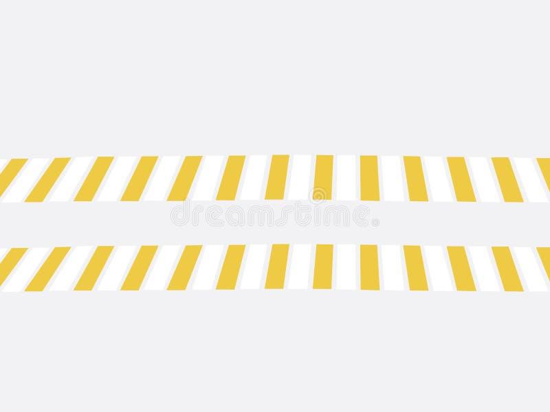 Voetgangersoversteekplaats, illustratie, veiligheidsconcept op weg, groot zebrapad stock illustratie