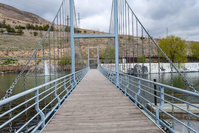 Voetpadbrug royalty-vrije stock afbeeldingen