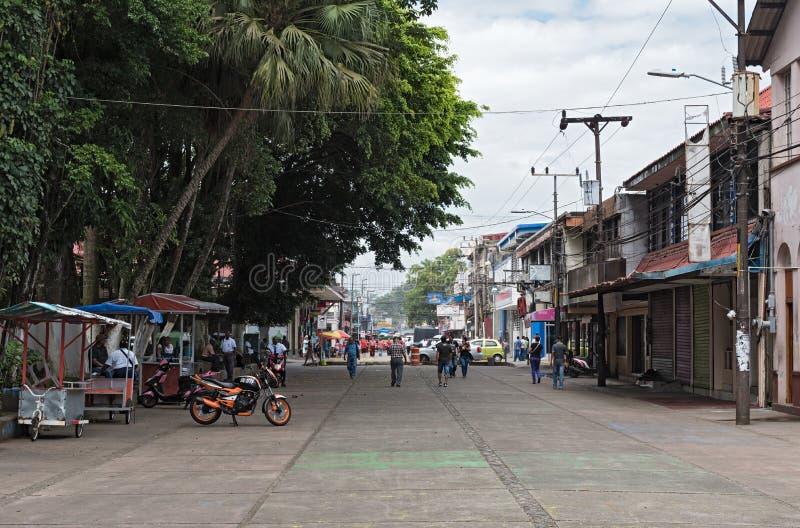 Voetstreek bij het Park Vargas in Puerto Limon, Costa Rica stock fotografie