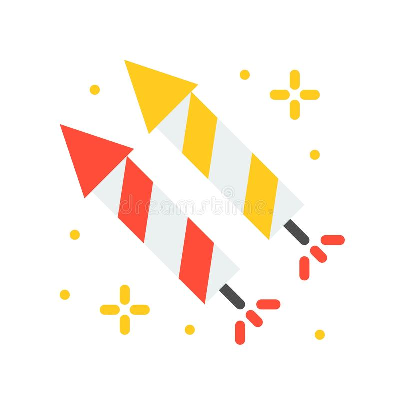 Voetzoeker vectorpictogram, pretpark verwante vlakke stijl stock illustratie
