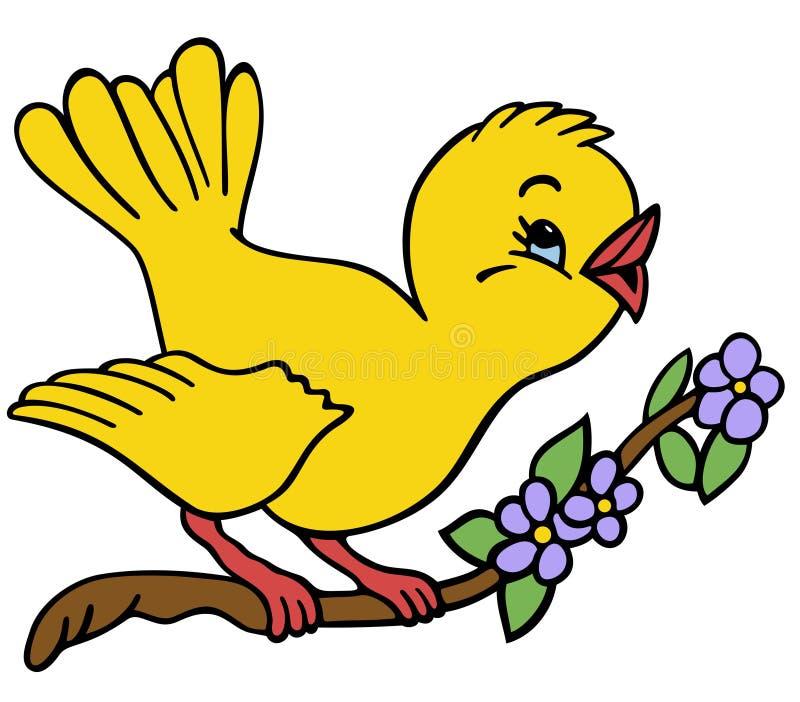 Vogel auf einem Zweig vektor abbildung