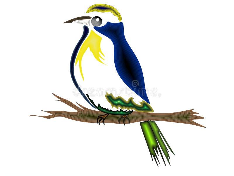 Vogel bij de tak stock afbeeldingen