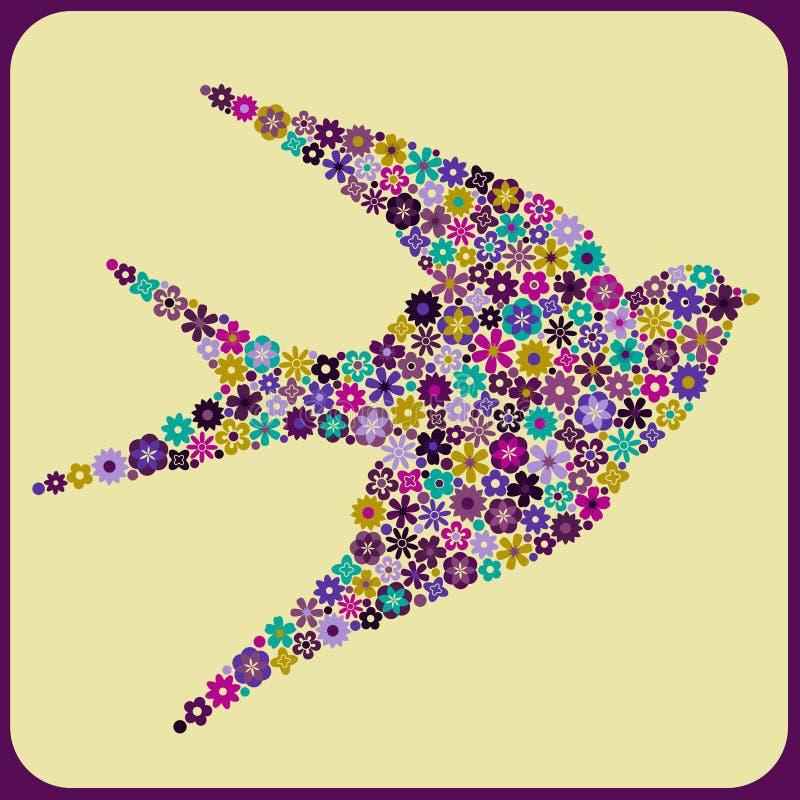 Vogel-Blüten vektor abbildung