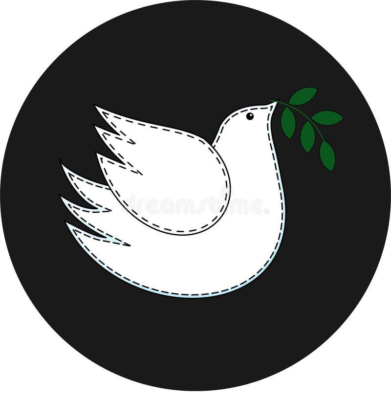 Vogel de duif Duifsymbool van vrede embleem stock fotografie