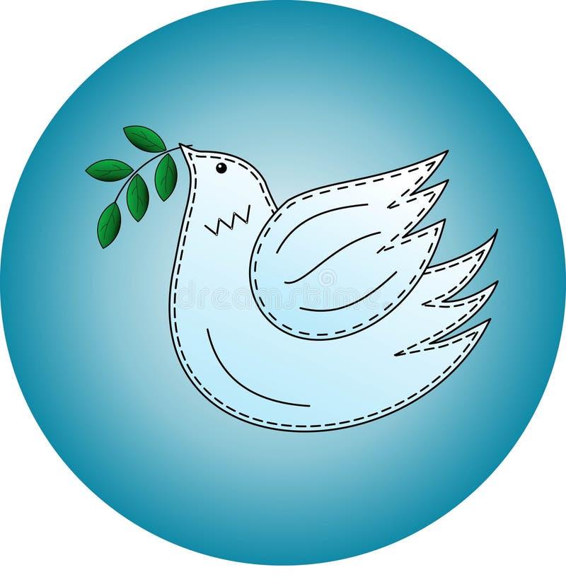 Vogel de duif Duifsymbool van vrede embleem stock foto's