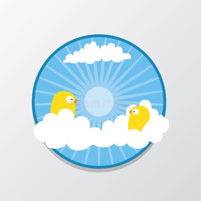Vogel in de hemel stock afbeelding