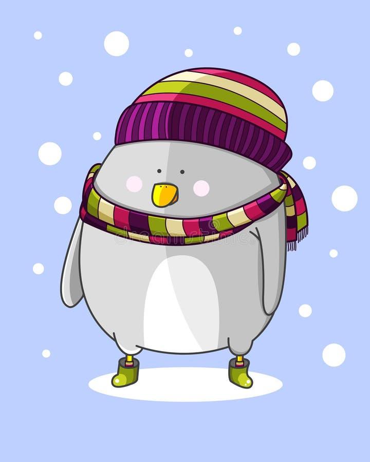 Vogel in de sneeuw royalty-vrije stock afbeeldingen