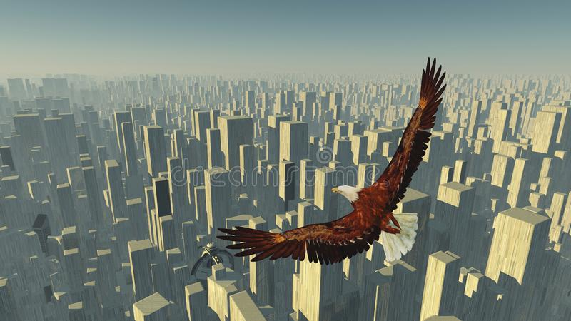 Vogel der Freiheit lizenzfreie abbildung