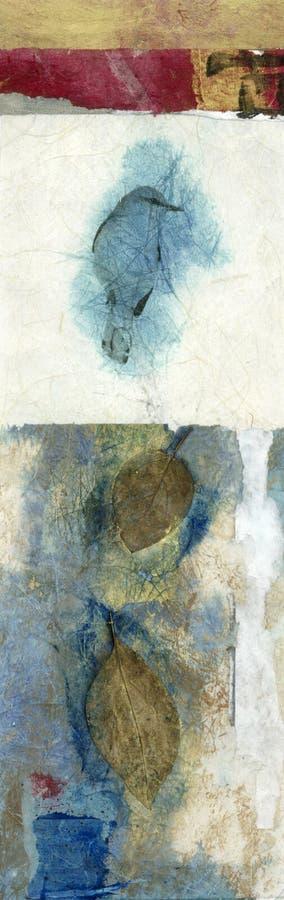 Vogel en Bladeren vector illustratie