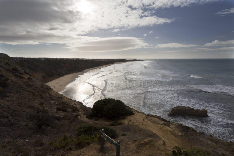 Vogel-Felsen-Strand, große Ozean-Straße, Australien lizenzfreie stockfotografie