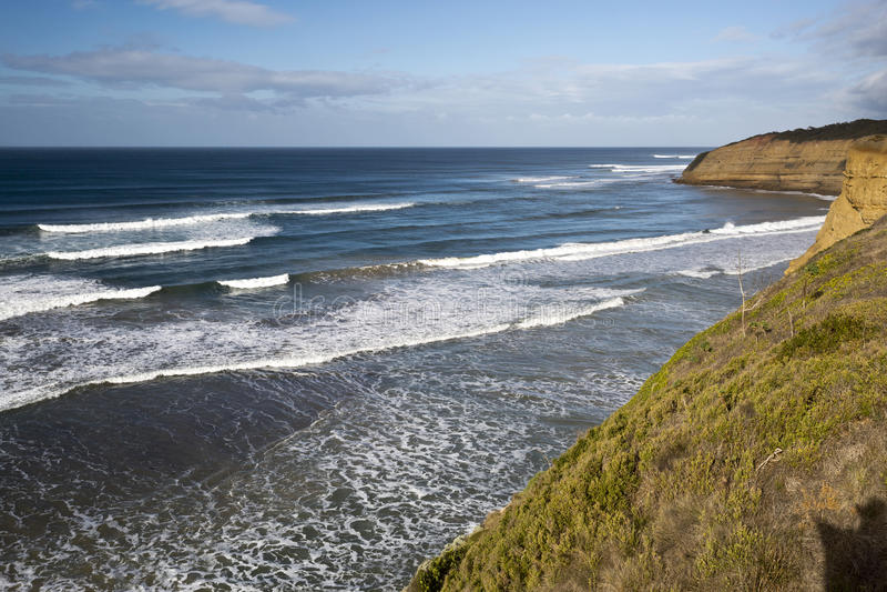 Vogel-Felsen-Strand, große Ozean-Straße, Australien lizenzfreies stockfoto