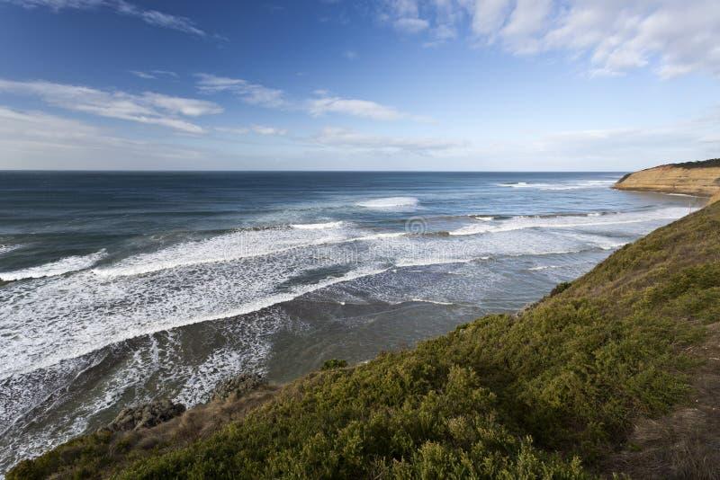 Vogel-Felsen-Strand, große Ozean-Straße, Australien lizenzfreie stockfotos