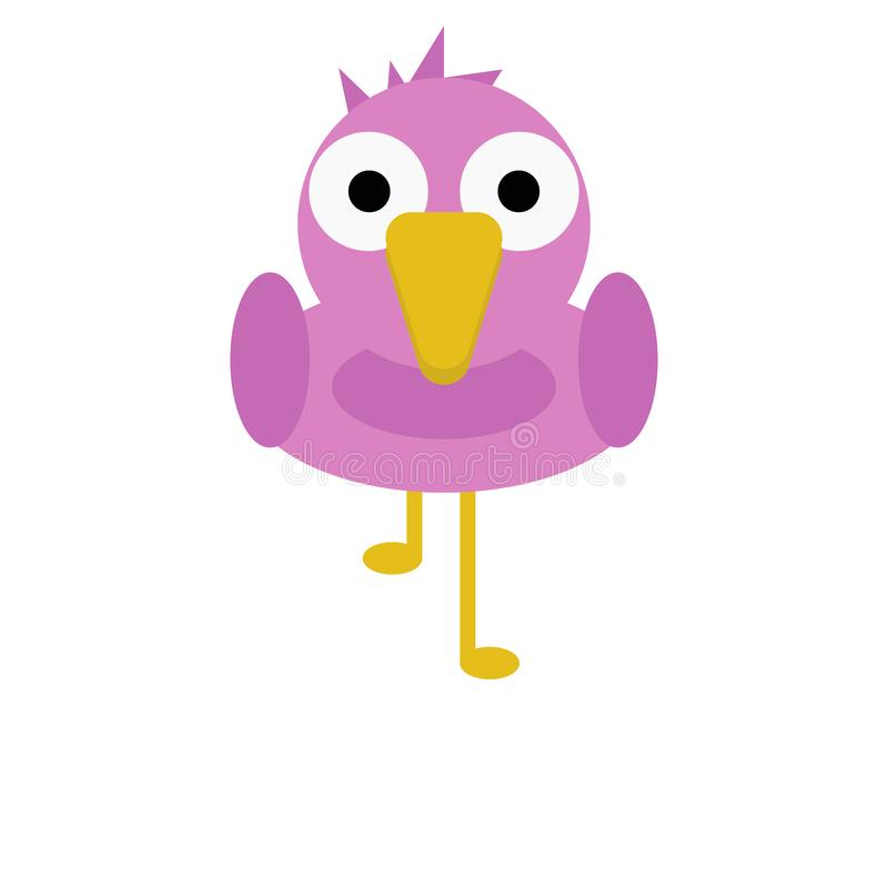 Vogel-Flamingo-nette Tierzeichentrickfilm-figur für Kinder stockbilder