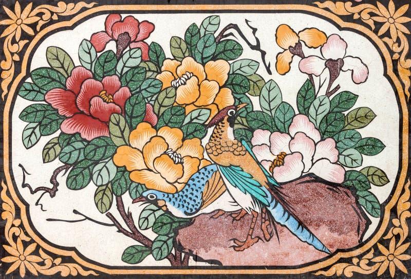 Vogel het schilderen royalty-vrije stock afbeeldingen