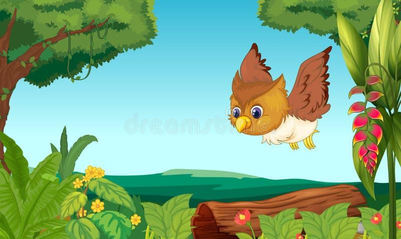 Vogel het vliegen stock illustratie