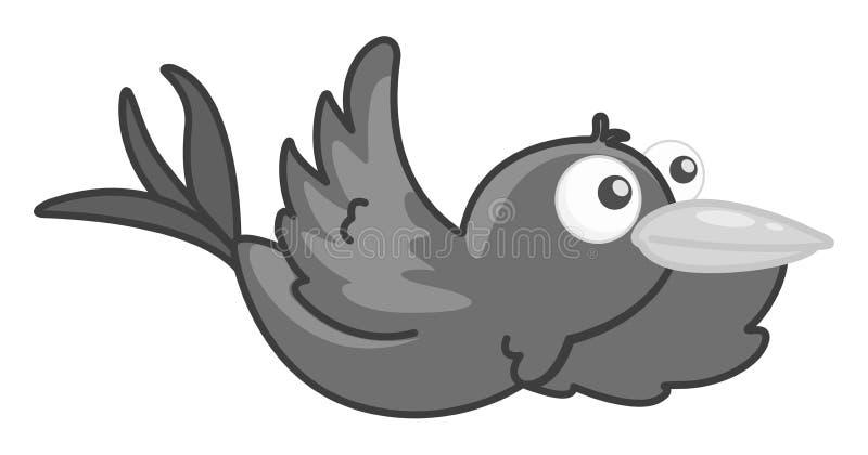 Vogel het vliegen royalty-vrije illustratie