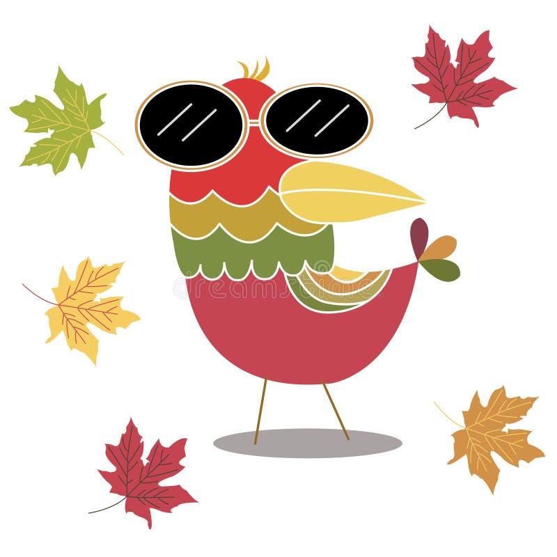 Vogel im Herbst vektor abbildung