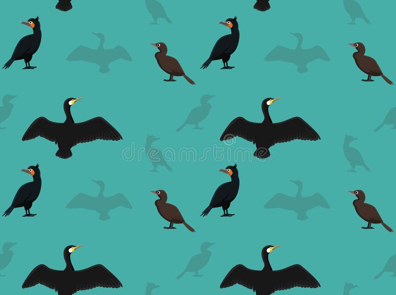 Vogel-Kormoran-Tapete lizenzfreie abbildung