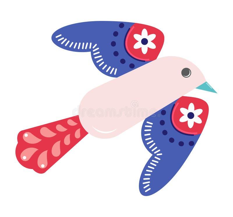 Vogel met een patroon op de vleugels stock foto's