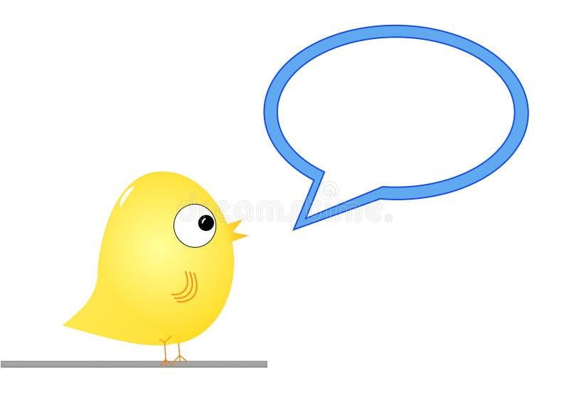 Vogel met toespraakbel stock illustratie