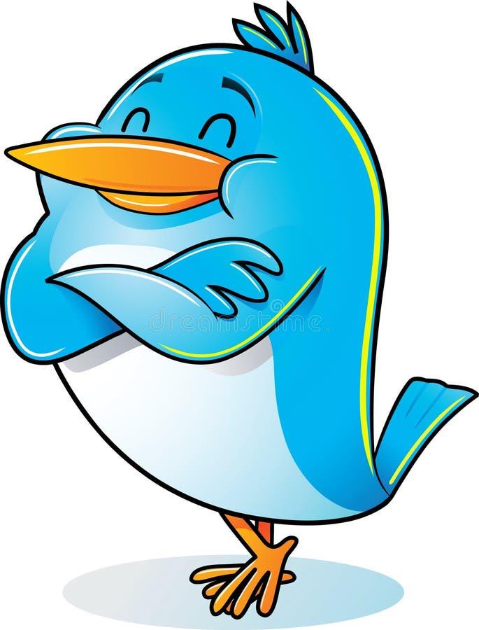 Vogel mit dem Arm gefaltet lizenzfreie abbildung