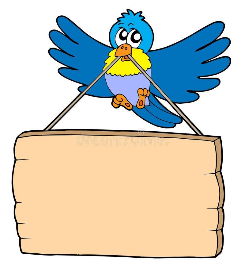 Vogel mit Zeichen lizenzfreie abbildung