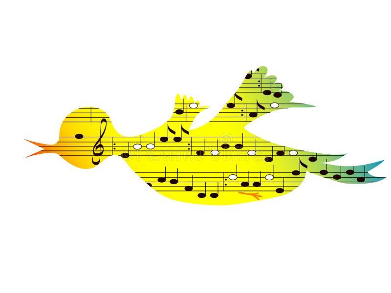Vogel, Musikthema stock abbildung