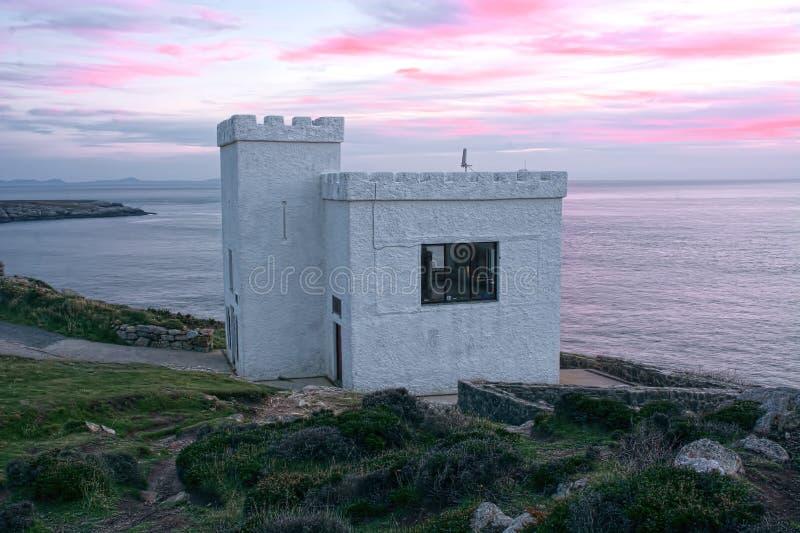 Vogel-Observatorium auf Insel von Anglesey lizenzfreies stockfoto