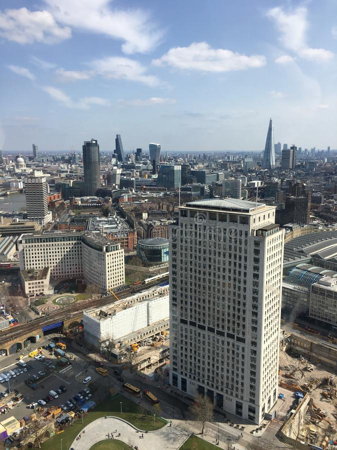 Vogel-oog mening van de Stad van Londen stock afbeeldingen
