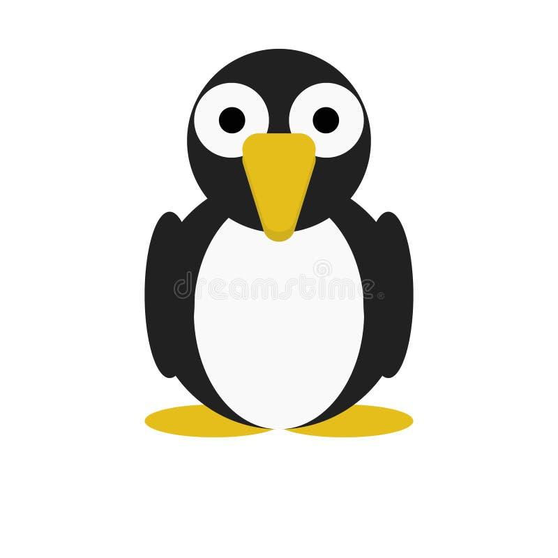 Vogel-Pinguin-nette Tierzeichentrickfilm-figur für Kinder stockfotografie