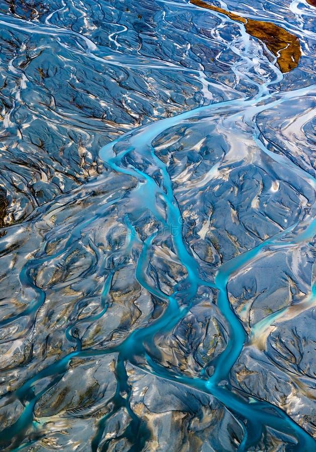 Vogel ` s Auge von Flüssen vom Berg lizenzfreies stockfoto