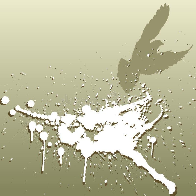 Vogel splat royalty-vrije illustratie