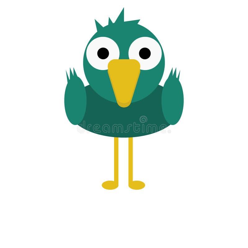 Vogel-Stockente Duck Cute Animal Cartoon Character für Kinder lizenzfreie stockfotografie