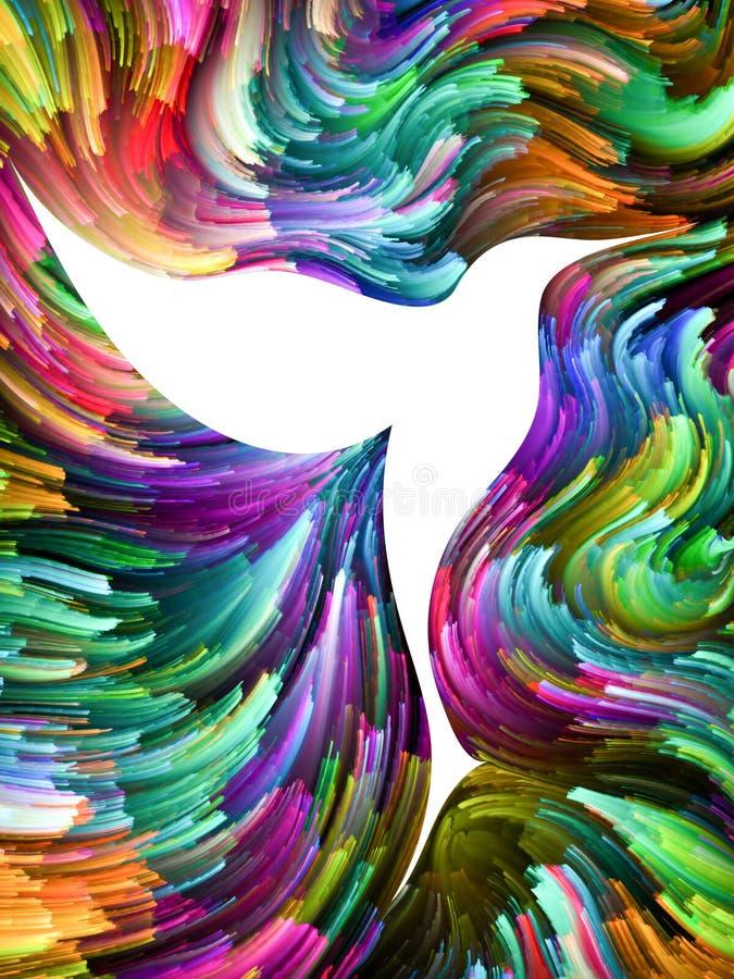 Vogel und Farbe lizenzfreie abbildung