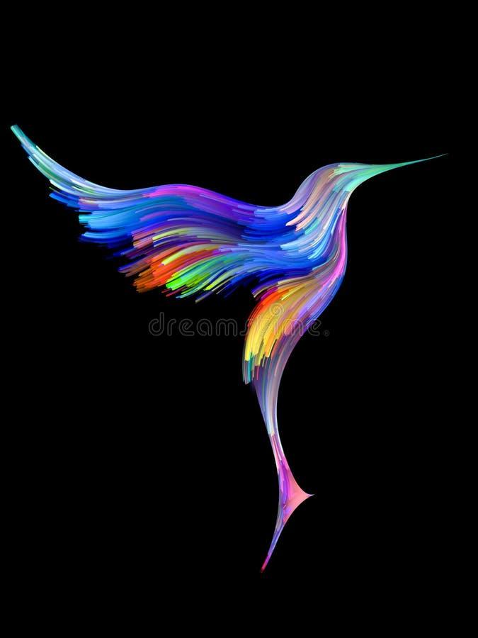 Vogel und Farbe vektor abbildung