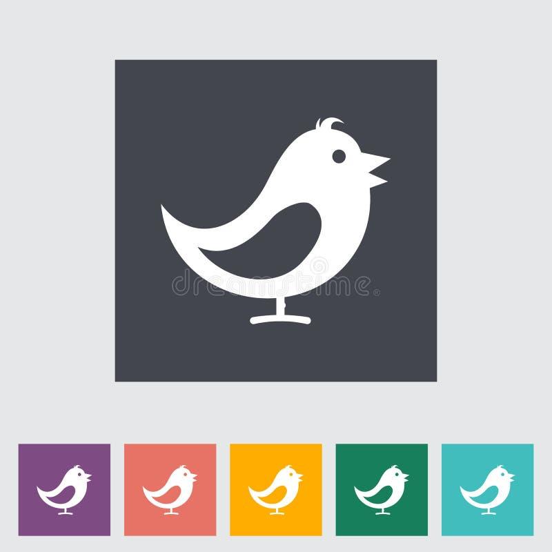 Vogel vlak pictogram. royalty-vrije illustratie