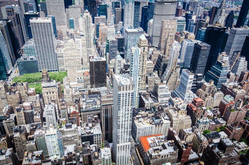 Vogelaugenansicht von New York lizenzfreies stockfoto