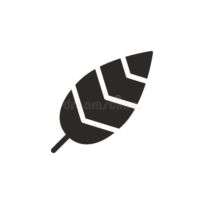 Vogelfederikone - Vektor Einfache Elementillustration von UI-Konzept Vogelfederikone - Vektor Infographic-Konzept-Vektor lizenzfreie abbildung