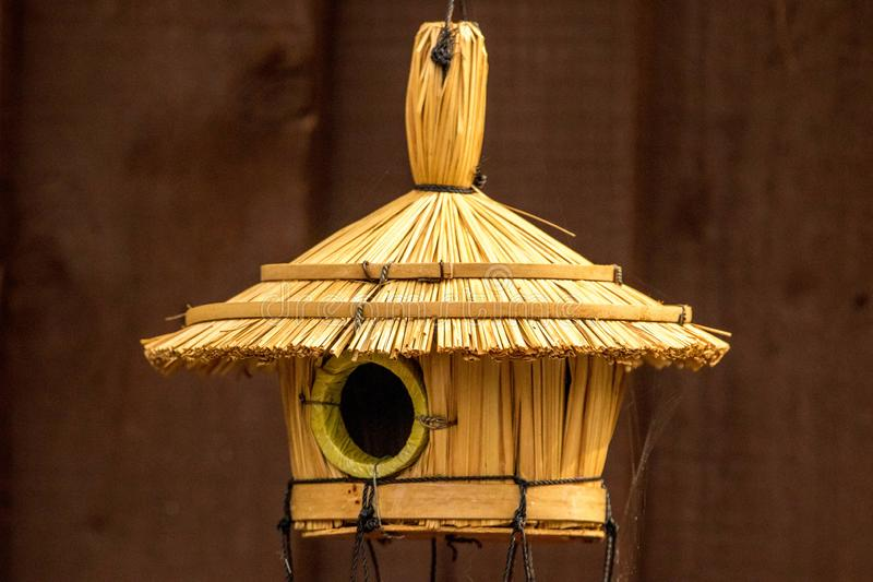 Vogelhütte stockfotografie