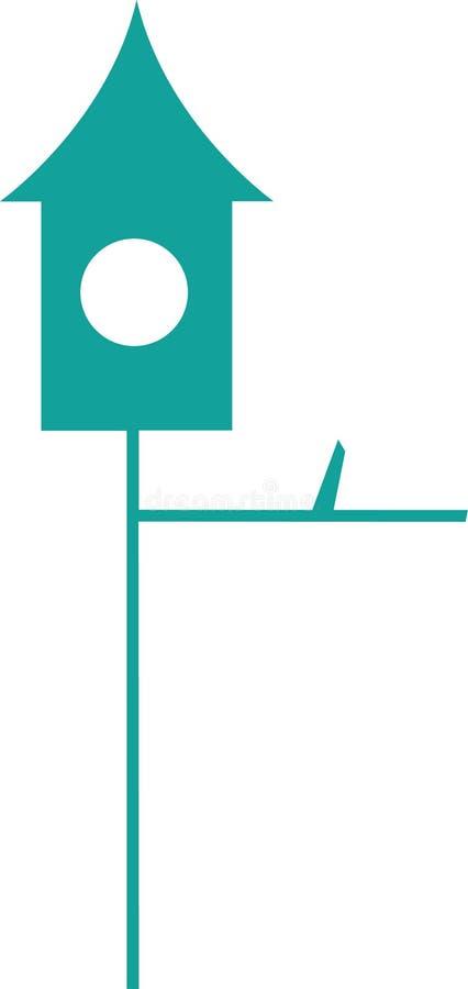 Vogelhaus gezeichnet in Vektor lizenzfreie stockfotografie