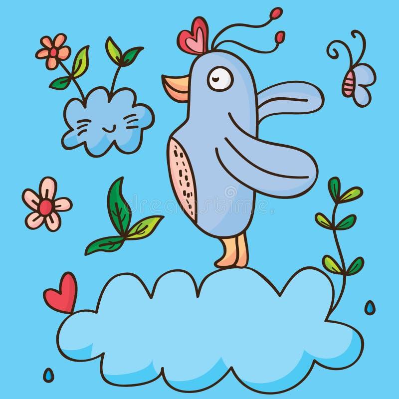 Vogelhemel vector illustratie