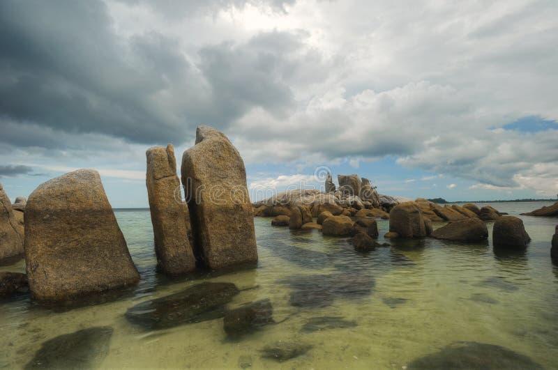 Vogelinsel belitung Indonesien lizenzfreies stockbild