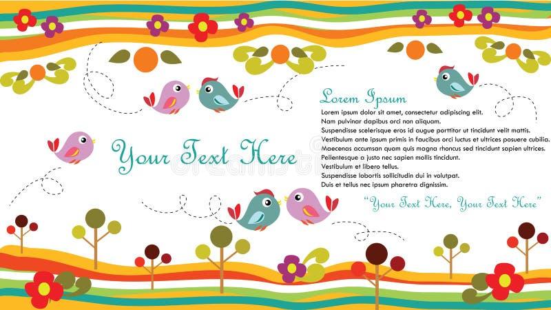 Vogelkaart stock illustratie