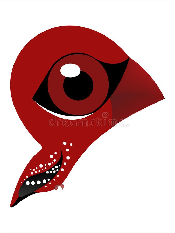 Vogelkarikatur des Erdbeerfinks, rotes avadavat vektor abbildung