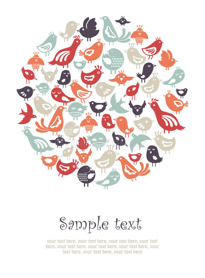 Vogelkarte Stockbild