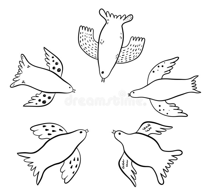 Vogelkrabbels royalty-vrije illustratie
